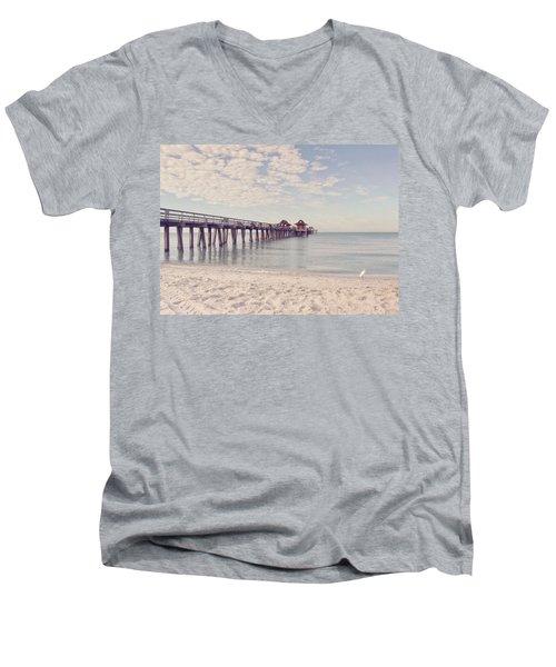 An Early Morning - Naples Pier Men's V-Neck T-Shirt