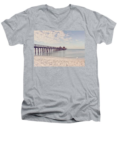 An Early Morning - Naples Pier Men's V-Neck T-Shirt