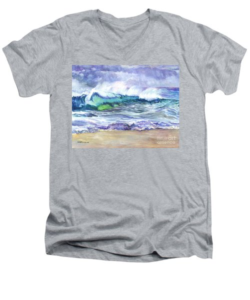 An Ode To The Sea Men's V-Neck T-Shirt by Carol Wisniewski