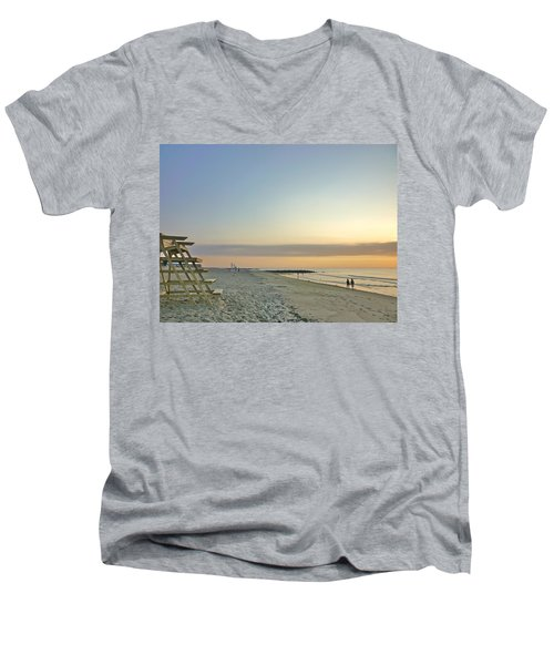 An Ordinary Summer Day Begins Men's V-Neck T-Shirt