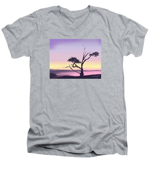 Anacortes Men's V-Neck T-Shirt by Terry Frederick