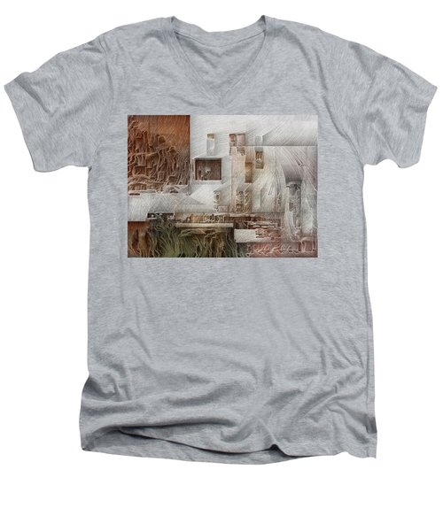 Ancient City 1 Men's V-Neck T-Shirt by David Hansen