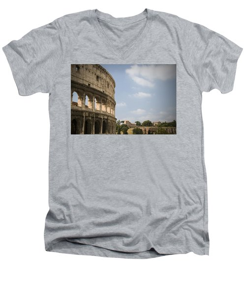 Ancient Colosseum Men's V-Neck T-Shirt by Jeremy Voisey