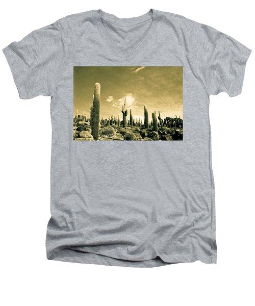 Ancient Giants Men's V-Neck T-Shirt by Lana Enderle