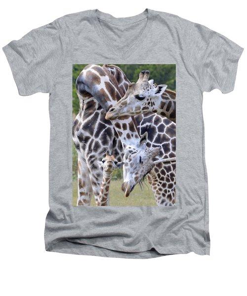 And Baby Makes Three Men's V-Neck T-Shirt
