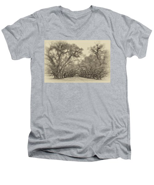 And Time Stood Still Sepia Men's V-Neck T-Shirt by Steve Harrington