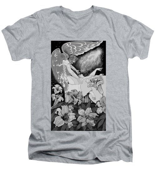 Angel Of Death Vision Men's V-Neck T-Shirt