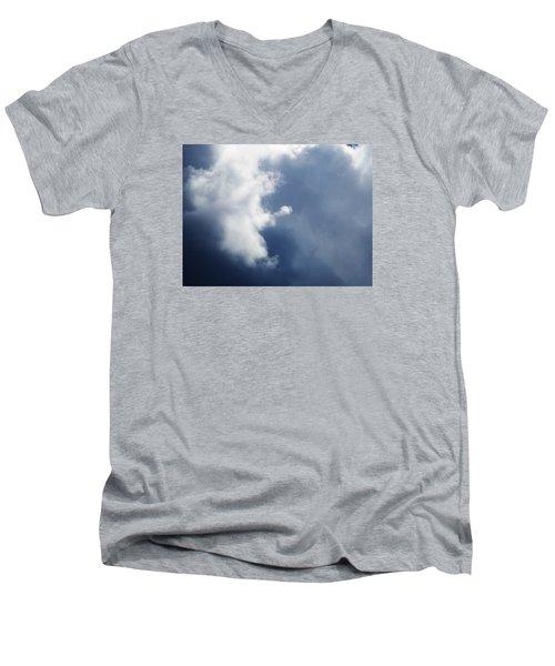 Cloud Angel Kneeling In Prayer Men's V-Neck T-Shirt by Belinda Lee