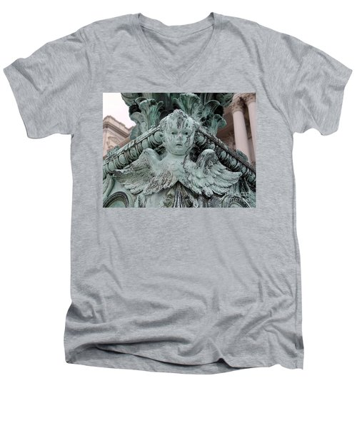 Men's V-Neck T-Shirt featuring the photograph Angel Wings by Ed Weidman
