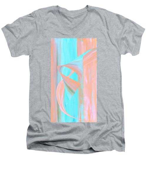 Men's V-Neck T-Shirt featuring the digital art Angelfish by Stephanie Grant