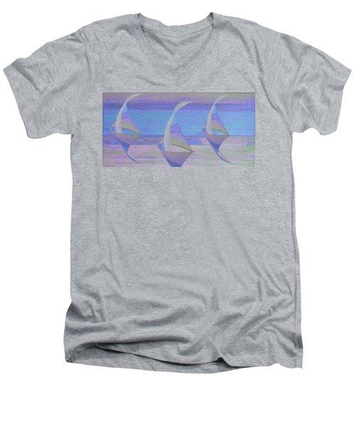 Angelfish3 Men's V-Neck T-Shirt
