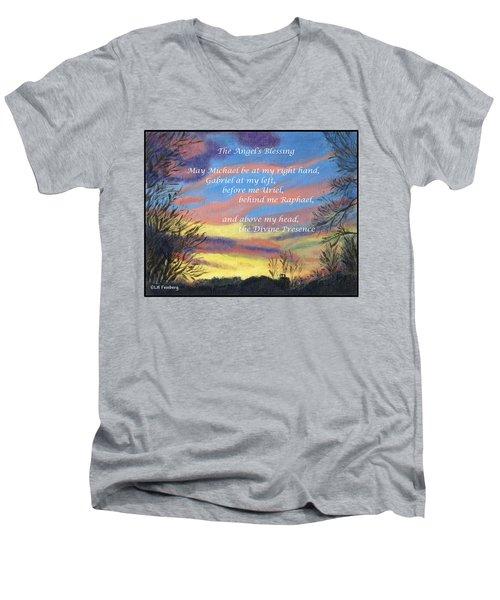 Angel's Blessing Men's V-Neck T-Shirt