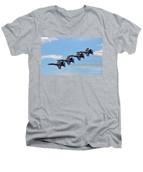Angels Of The Sky Men's V-Neck T-Shirt