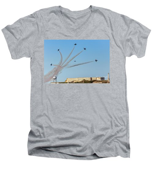 Angels Over Alcatraz Men's V-Neck T-Shirt