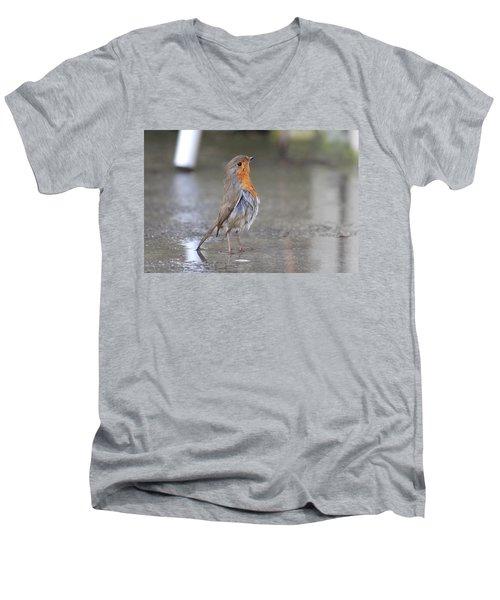 Angry Bird  Men's V-Neck T-Shirt
