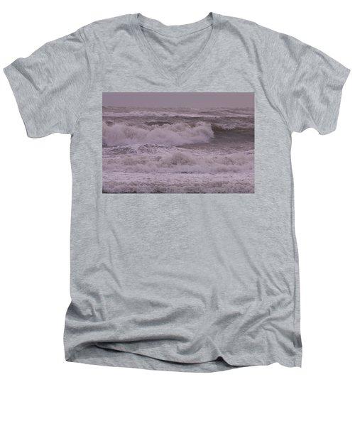 Angry Men's V-Neck T-Shirt by Greg Graham