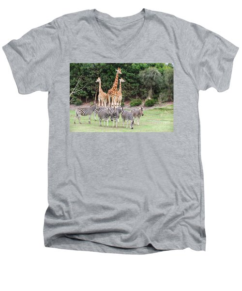 Animal Kingdom I Men's V-Neck T-Shirt