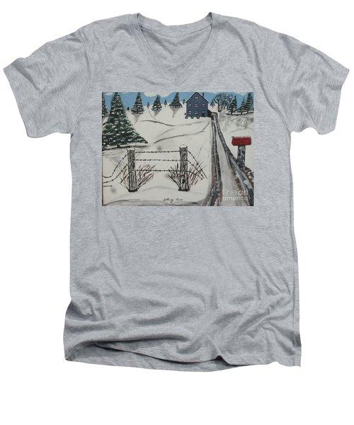 Anna Koss Farm Men's V-Neck T-Shirt by Jeffrey Koss
