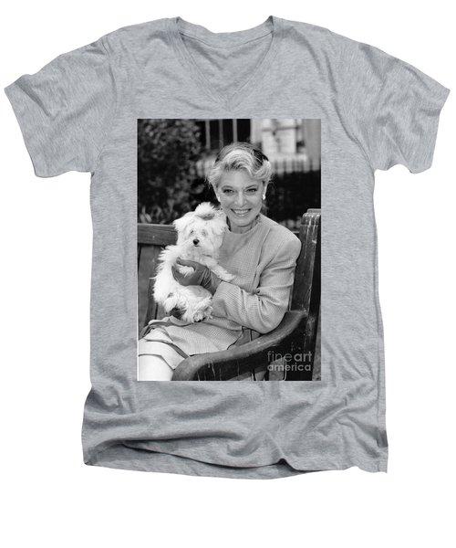 Anne Bancroft Men's V-Neck T-Shirt