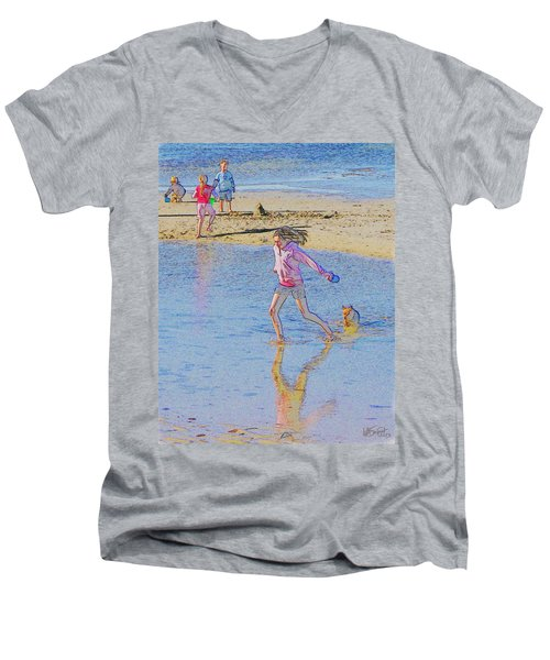 Another Day At The Beach Men's V-Neck T-Shirt