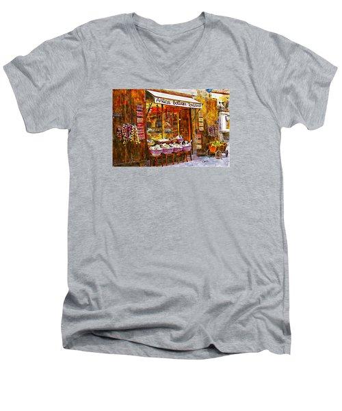 Antica Bottega Toscana Men's V-Neck T-Shirt