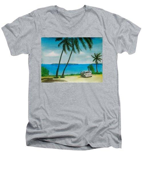 Antigua Men's V-Neck T-Shirt