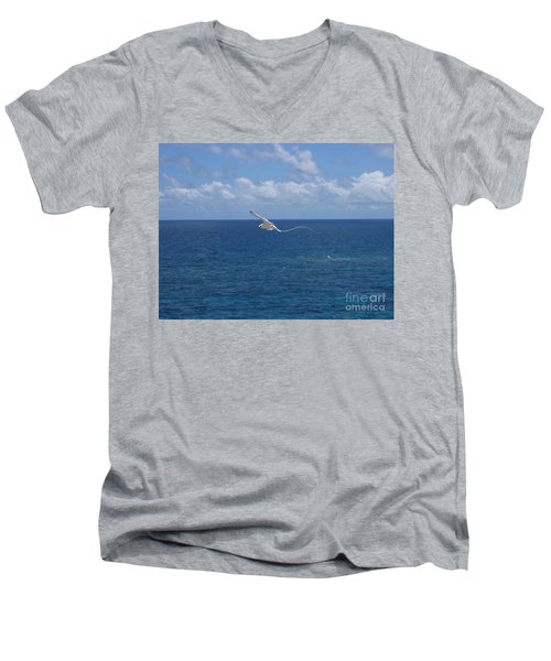 Antigua - In Flight Men's V-Neck T-Shirt by HEVi FineArt