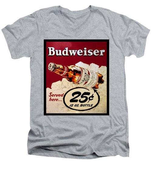 Antique Budweiser Signage Men's V-Neck T-Shirt