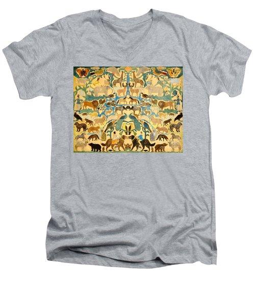 Antique Cutout Of Animals  Men's V-Neck T-Shirt