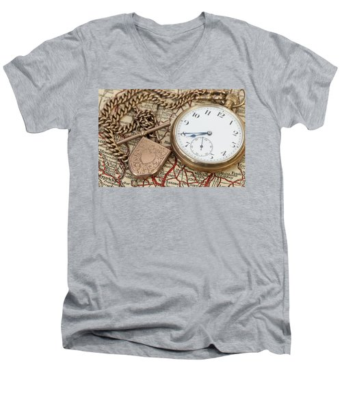 Antique Memories Men's V-Neck T-Shirt