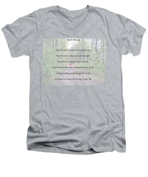 Apache Blessing With Photo Men's V-Neck T-Shirt