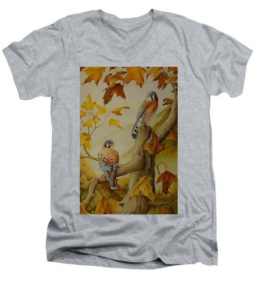 Appalachian Autumn  Men's V-Neck T-Shirt