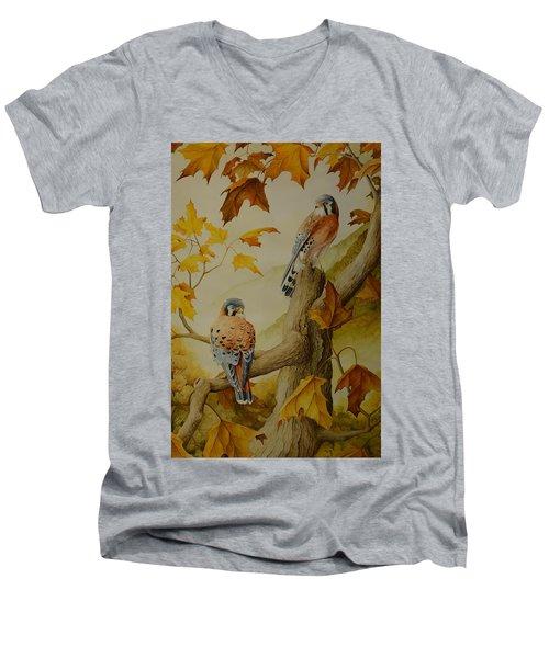 Appalachian Autumn  Men's V-Neck T-Shirt