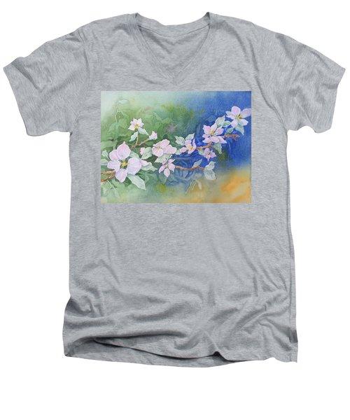 Apple Blossoms 2 Men's V-Neck T-Shirt by Christine Lathrop