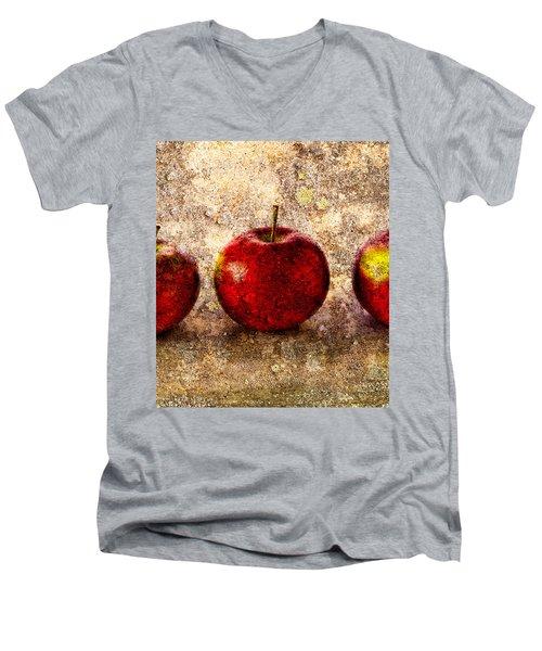Apple Men's V-Neck T-Shirt