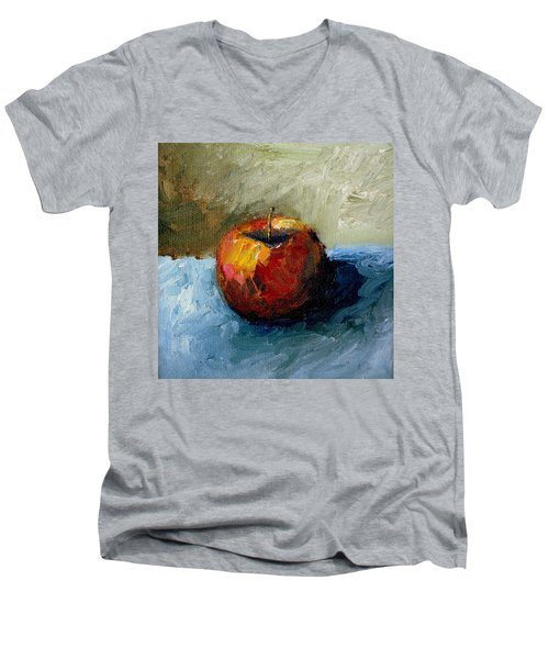 Apple With Olive And Grey Men's V-Neck T-Shirt
