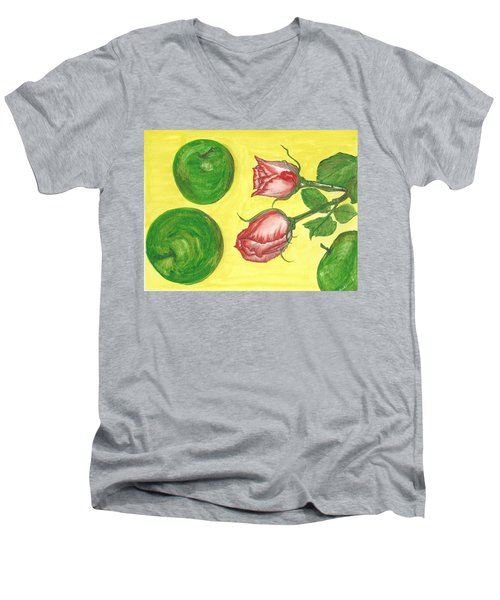Apples And Roses Men's V-Neck T-Shirt