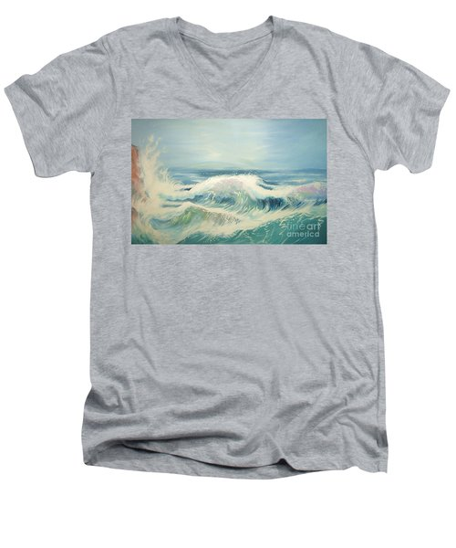 Aqua Sea Scape Men's V-Neck T-Shirt