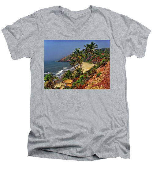 Arambol Beach India Men's V-Neck T-Shirt