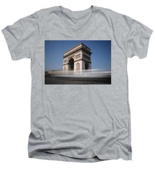 Arc De Triomphe Men's V-Neck T-Shirt by Jeremy Voisey