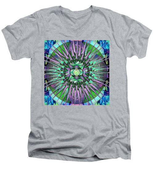 Archangels Gather Mandala Men's V-Neck T-Shirt