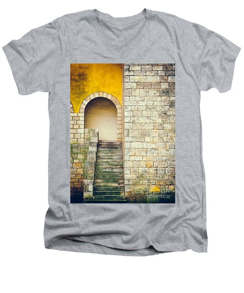 Men's V-Neck T-Shirt featuring the photograph Arched Entrance by Silvia Ganora