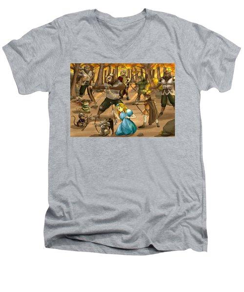 Archery In Oxboar Men's V-Neck T-Shirt by Reynold Jay