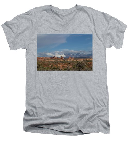 Arches National Monument Utah Men's V-Neck T-Shirt