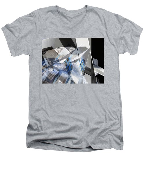 Architectural Abstract Men's V-Neck T-Shirt