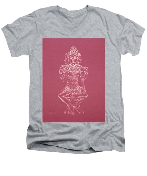 Ardhanarishvara II Men's V-Neck T-Shirt by Michele Myers
