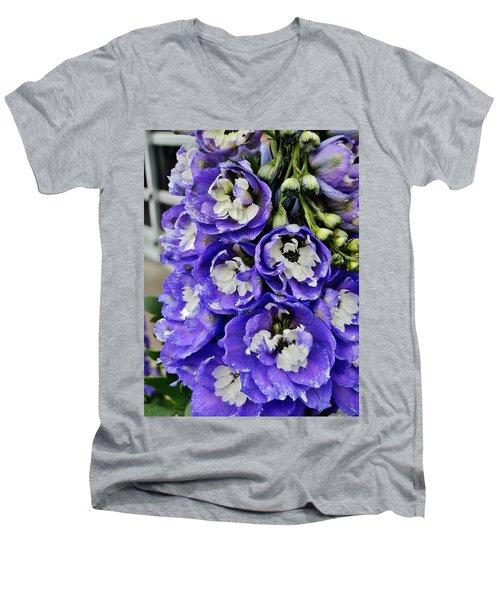 Aristocratic Spire Men's V-Neck T-Shirt by VLee Watson