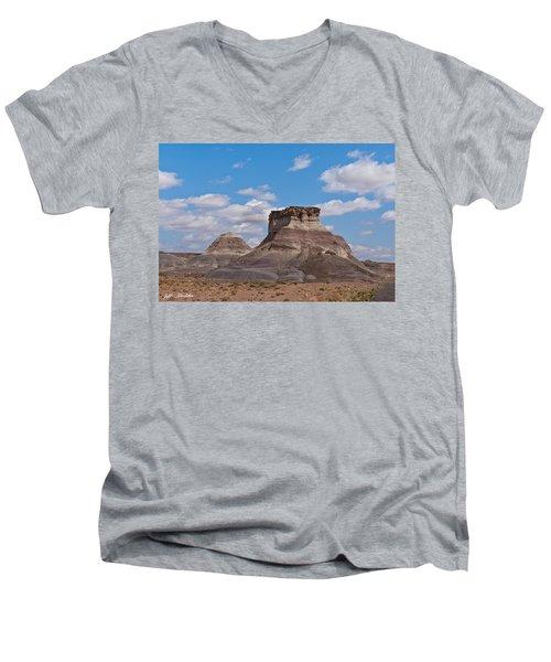 Arizona Desert And Mesa Men's V-Neck T-Shirt by Jeff Goulden