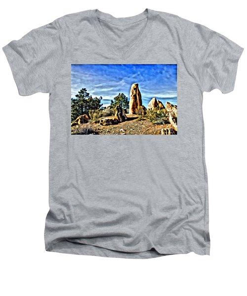 Arizona Monolith Men's V-Neck T-Shirt