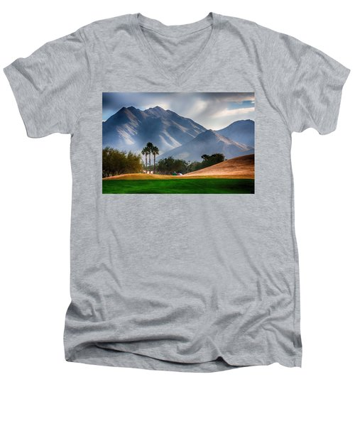Arizona Sunrise Golfing Men's V-Neck T-Shirt